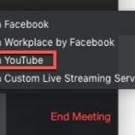 Cara Live Streaming Youtube Facebook dan lainnya dari Aplikasi Zoom