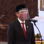 ILUSTRASI. Pelantikan Menteri Pendidikan, Kebudayaan, Riset dan Teknologi (Mendikbud Ristek) Nadiem Makarim di Istana Negara, Rabu (28/4/2021).